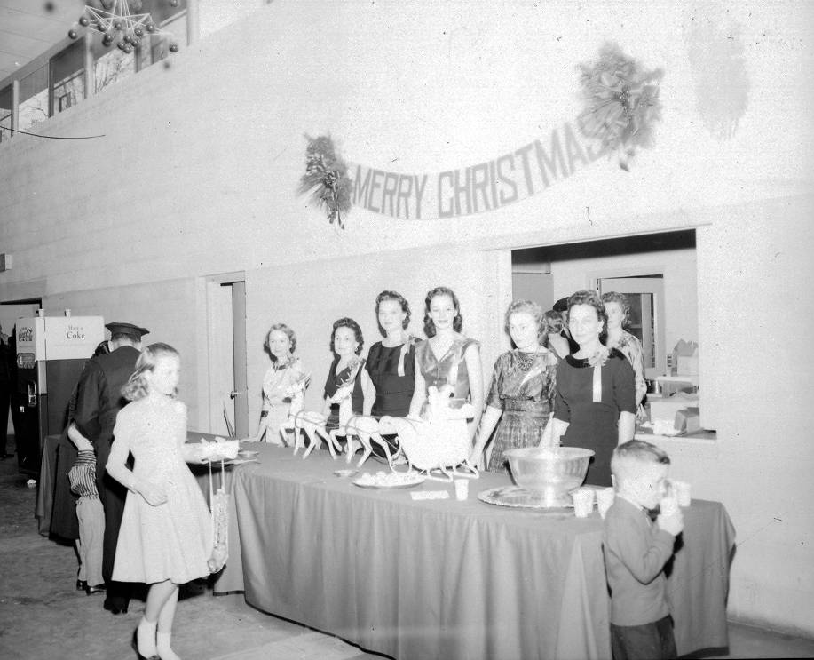 1957 Christmas drop-in at the Fire Station | Photo courtesy Columbia Fire Department Museum