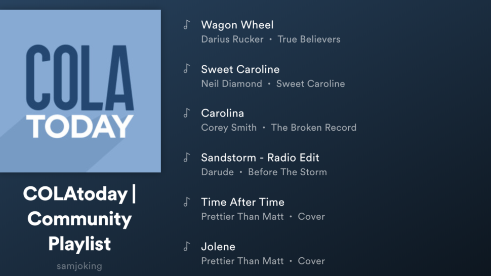 A collaborative Columbia Spotify playlist | COLAToday