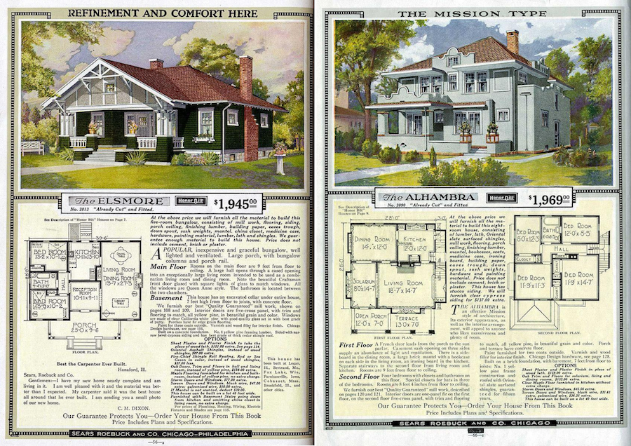 Sample Sears and Roebuck catalog pages