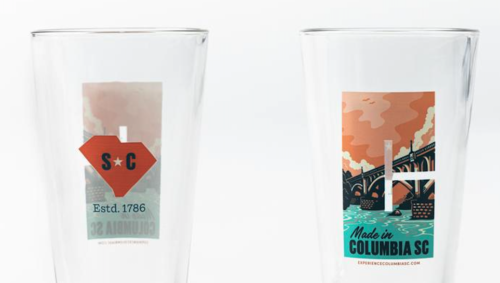 Made in Columbia SC Pint Glass from the new Experience Columbia SC online store | Photo by Forrest Clonts