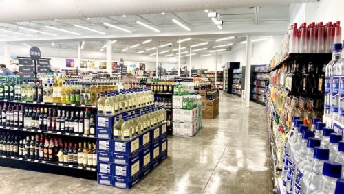 Liquor section in Green's new Garners Ferry Rd. location