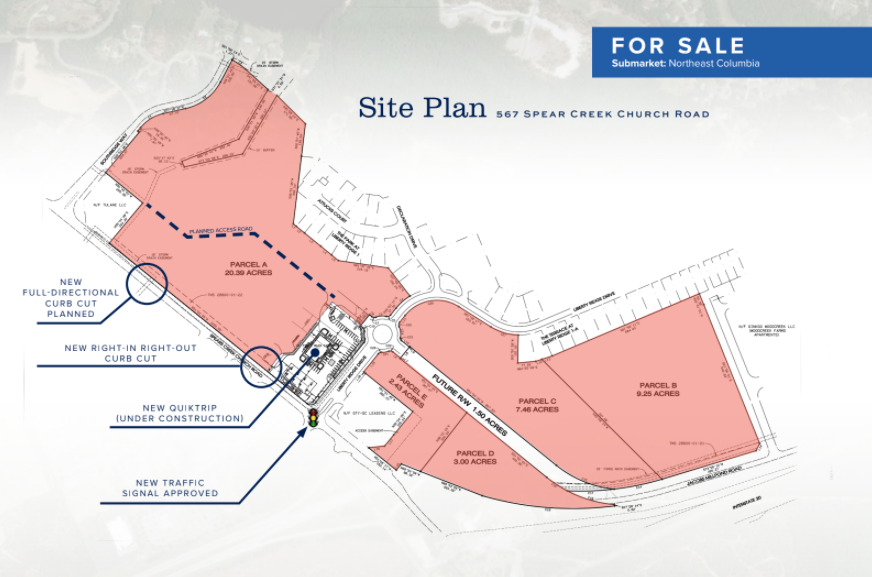 Photo of Site Plan for Spears Creek Chruch Rd. development tract