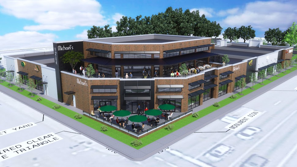 Rendering of the new development at the corner of Blossom St. and Huger St.