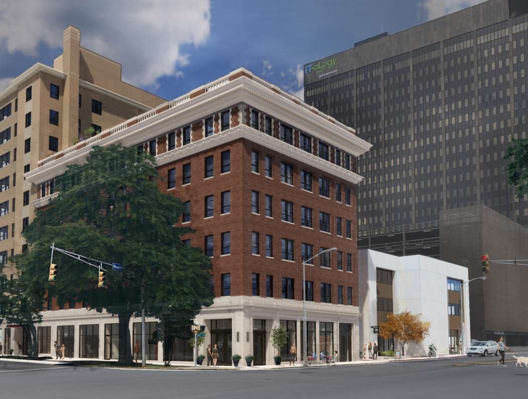 Rendering of a new downtown apartment on Lady St.