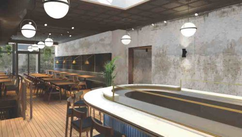Rendering of the Smoked oyster bar