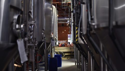 Tanks inside a brewery