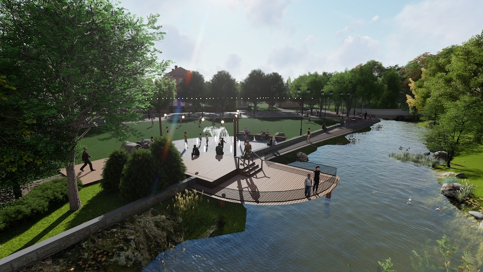 Waterfront park in Forest Acres